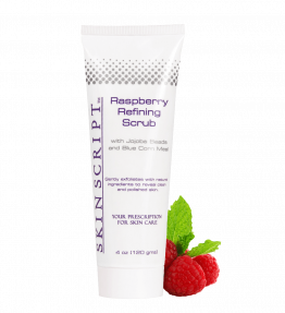 Skin Script Exfoliant: Raspberry Refining Scrub, with Jojoba Beads and Blue Corn Meal